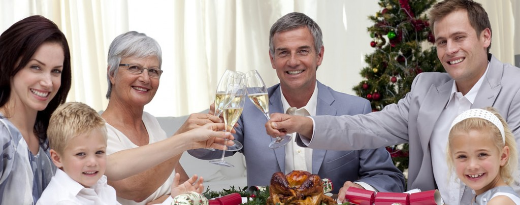 Family toasting over holiday meal, should Seniors be included?