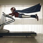 Super Mamika flies on the treadmill