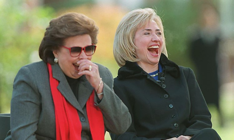 Hillary Clinton with Mother, Dorohty Rodham