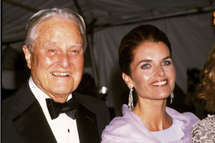 Maria Shriver with Father, Sargent Shriver