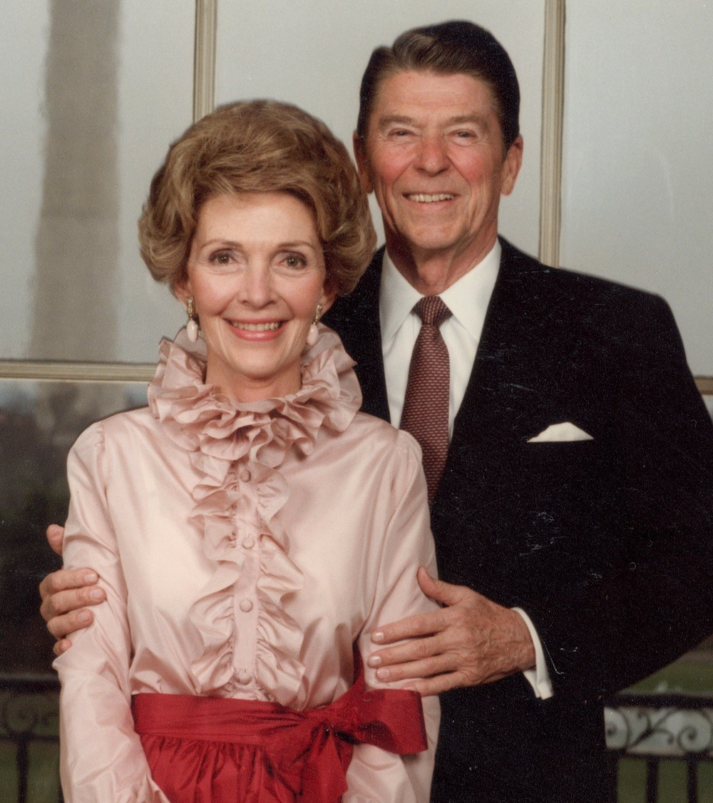 Nancy Reagan with Husband, Ronald Reagan
