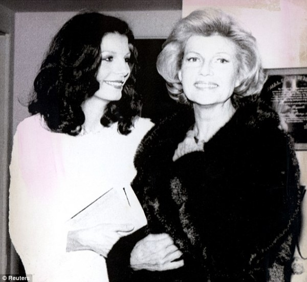 Princess Yasmin Aga Khan with Mother, Rita Hayworth